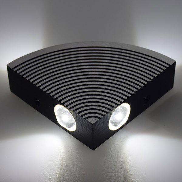Home Decor Aluminum LED Sector Wall Lamp - WHITE LIGHT