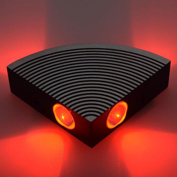 Home Decor Aluminum LED Sector Wall Lamp - RED