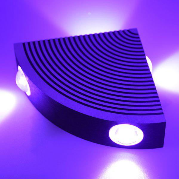 Home Decor Aluminum LED Sector Wall Lamp - PURPLE