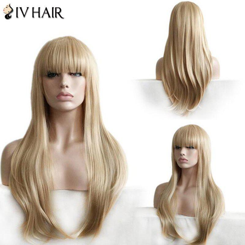 Siv Hair Full Bang Layered Straight Long Hair Hair Wig - / Blonde