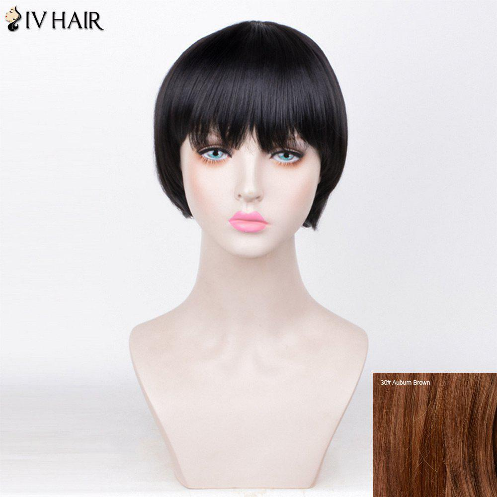 Siv Hair Straight Full Fringe Short Bob Perruque de cheveux humains -