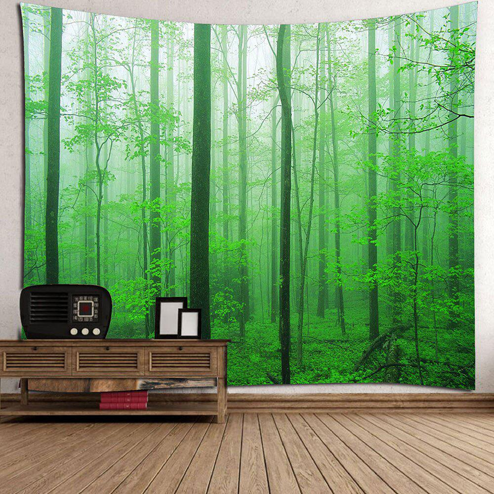 2018 Home Decor Forest Tree Wall Hanging Tapestry GREEN W ...