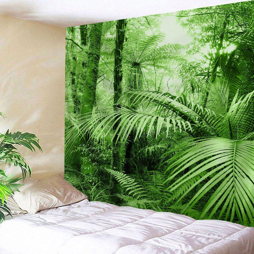 Tropical Plants Wall Decor Fabric Tapestry - GREEN W59 INCH * L59 INCH