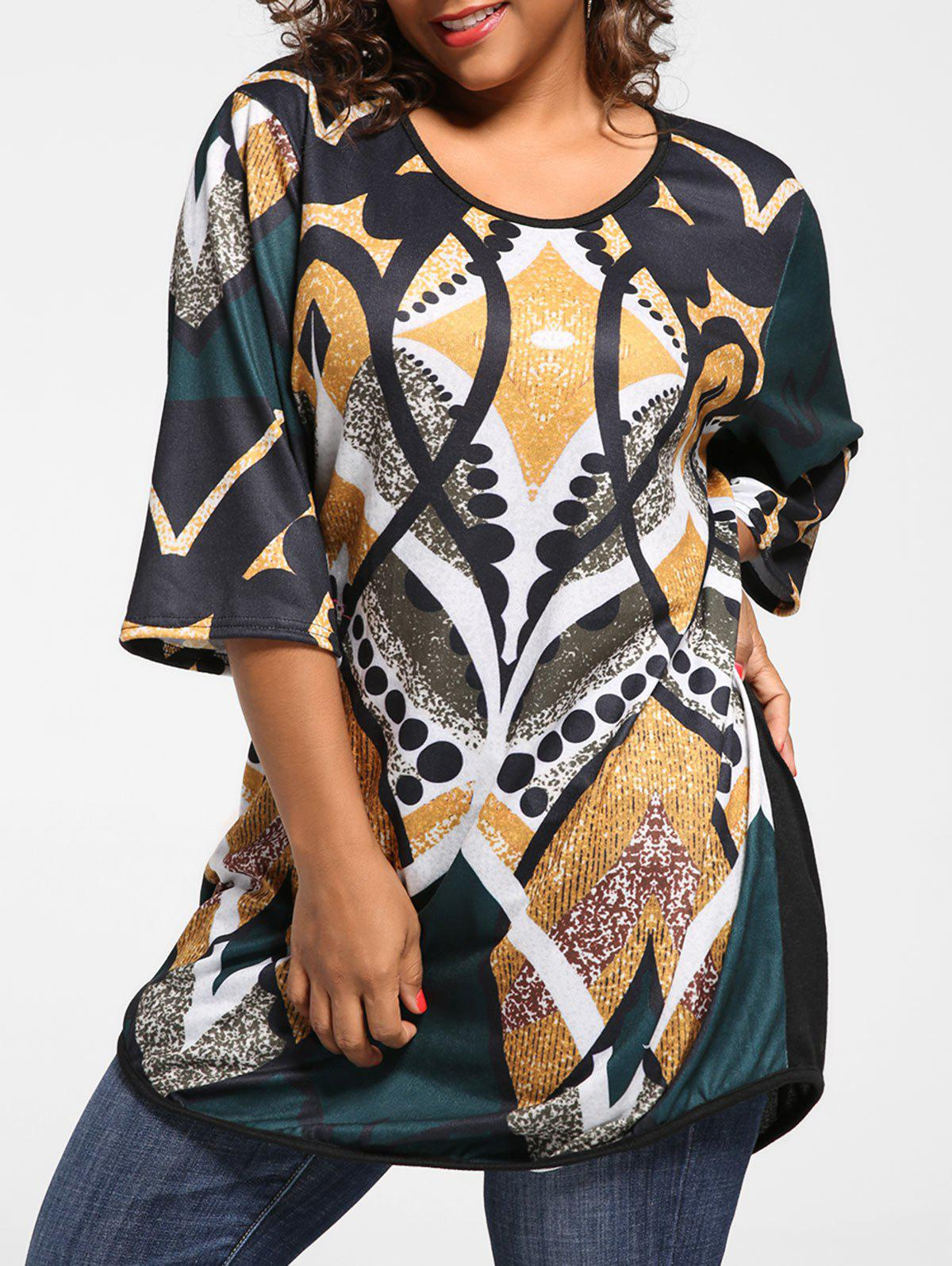 Plus Size Print Knit Tunic Top inc international concepts plus size bootcut pull on ponte knit pants