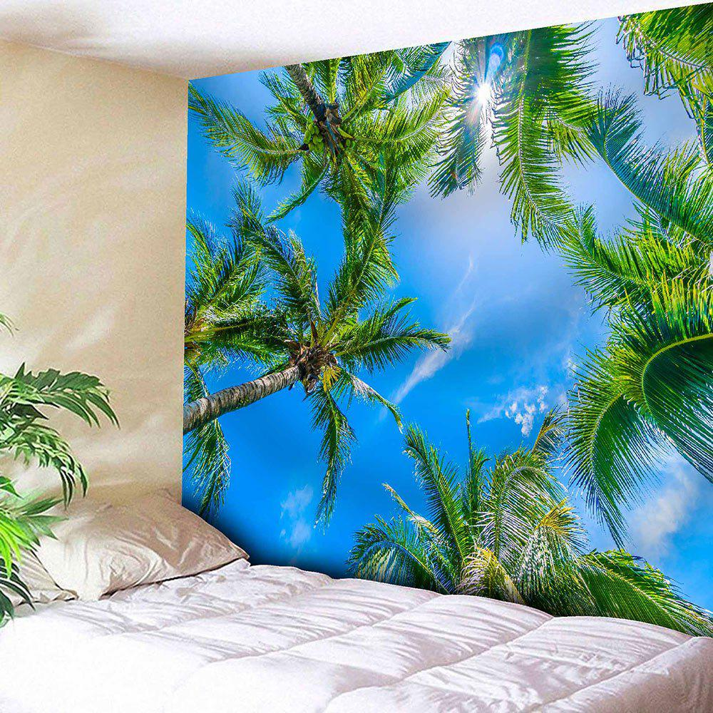 Sky and Coconut Trees Printed Wall Hanging Tapestry abm sharif hossain and fusao mizutani dwarfing peach trees grafted on vigorous rootstocks