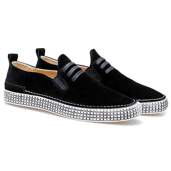 Dresslily Elastic Band Laces Slip On Casual Shoes