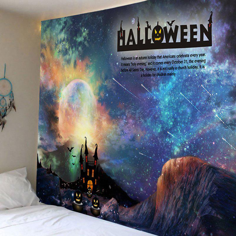 Wall Hanging Art Halloween Galaxy Print Tapestry