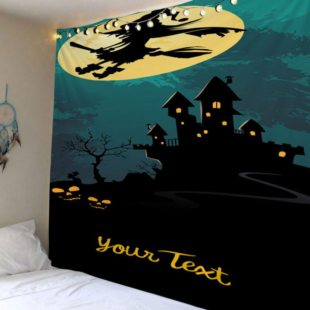 Wall Hanging Art Halloween Castle Moon Print Tapestry