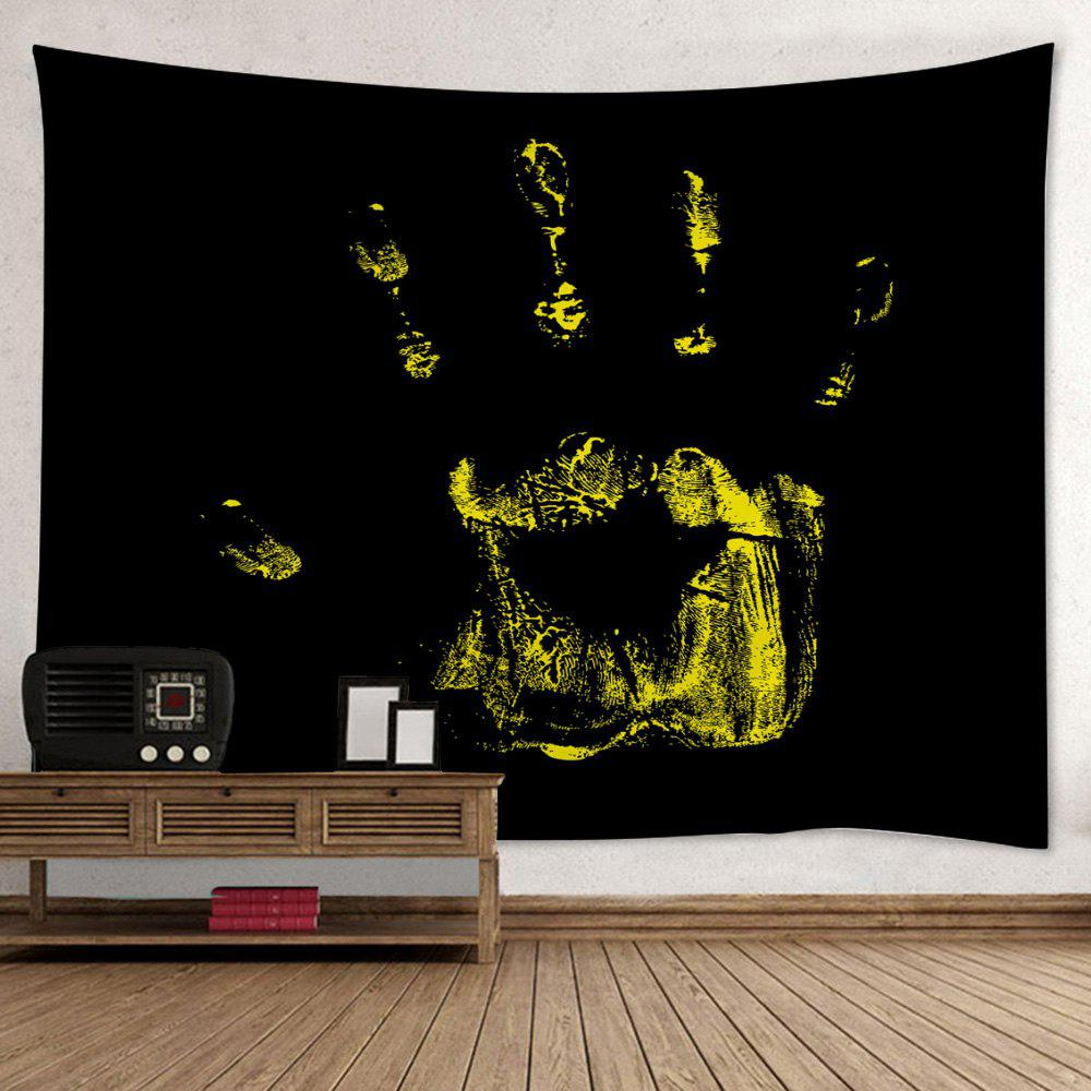 Wall Hanging Art Decor Halloween Handprint Print Tapestry - BLACK W59 INCH * L59 INCH