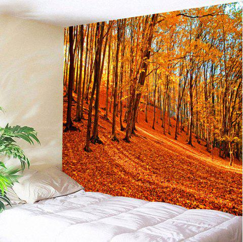 Wall Art Maple Forest Tapestry Hanging Blanket - ORANGE W79 INCH * L59 INCH