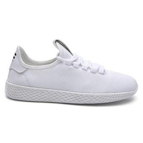 Lace Up Mesh Breathable Casual Shoes - WHITE 42
