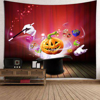 Halloween Pumpkin Magic Waterproof Wall Tapestry - RED W79 INCH * L59 INCH