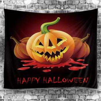 Halloween Pumpkin Bloody Letter Wall Decor Tapestry - WINE RED W79 INCH * L59 INCH