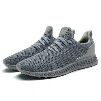 Mesh Lace Up Breathable Athletic Shoes - GRAY 43