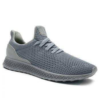 Mesh Lace Up Breathable Athletic Shoes - GRAY GRAY