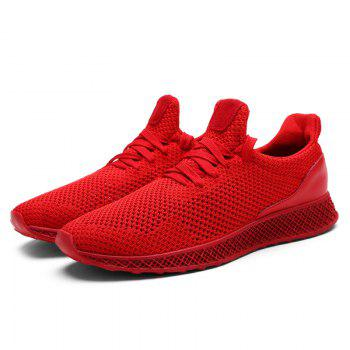 Mesh Lace Up Breathable Athletic Shoes - 42 42