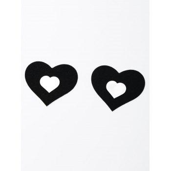 Heart Shaped Nipple Cover - BLACK ONE SIZE
