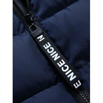 Detachable Hooded Graphic Embellished Padded Waistcoat - M M