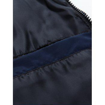 Detachable Hooded Padded Zip Up Waistcoat - 3XL 3XL