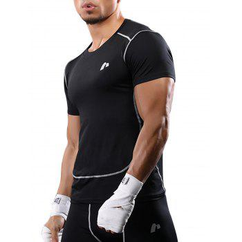 Suture Quick Dry Short Sleeve Stretchy Gym T-shirt