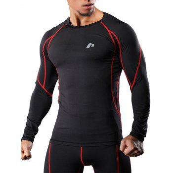 Quick Dry Raglan Sleeve Suture Stretchy Gym T-shirt