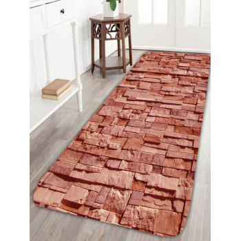 Extra Large Brick Pattern Home Entrance Area Rug