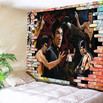 Wall Hanging Bruce Lee Kung Fu Dragon Tapestry