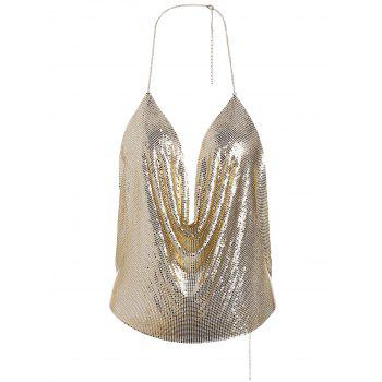 Bijoux Body Shimmer Bra Halter Body - Or