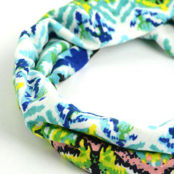 Showy Multicolor Pattern Headband - GREEN