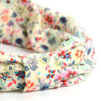 Retro Tiny Floral Pattern Snood - LIGHT YELLOW