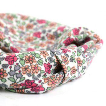 Retro Tiny Floral Pattern Snood -  RED