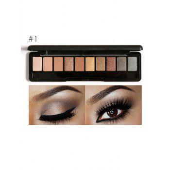 Earth Color Smoky Eyeshadow Palette - #01