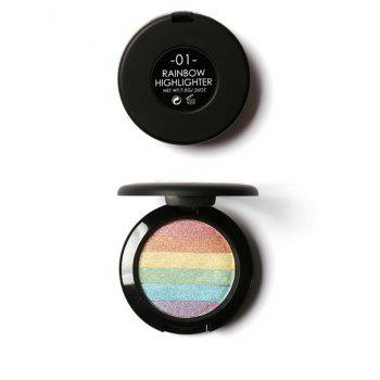 Beauty Makeup Rainbow Highlighter Powder -