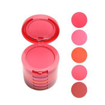 5 Color Layered Cosmetics Makeup Blusher With Brush - COLORMIX COLORMIX