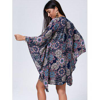 Bohemian Oversized Lace Up Kaftan Dress - S S