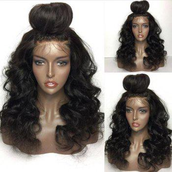 Shaggy Free Part Long Loose Body Wave Lace Front Human Hair Wig
