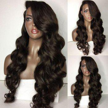 Long Deep Side Part Loose Body Wave Lace Front Human Hair Wig