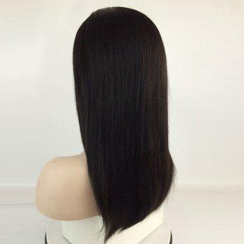 Middle Part Long Straight Lace Front Human Hair Wig -  NATURAL BLACK