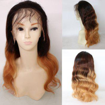Free Part Long Loose Wave Colormix Indian Lace Front Human Hair Wig