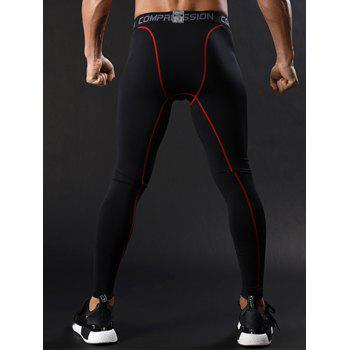 Pantalon de gymnastique à élastique graphique Stretchy Quick Dry Gym Pants - Rouge M