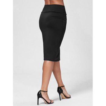 high waisted work bodycon midi skirt black m in skirts