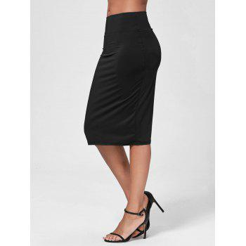 High-Waisted Work Bodycon Midi Skirt