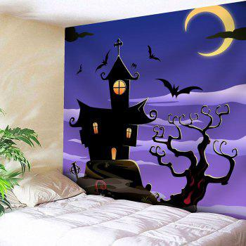 Waterproof Halloween Night Town with Batwing Tapestry