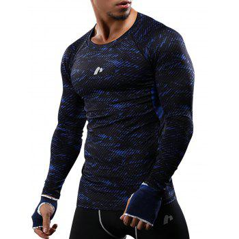 Quick Dry Camouflage Openwork Panel Gym T-shirt