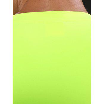 Suture Quick Dry Short Sleeve Stretchy Gym T-shirt - NEON GREEN NEON GREEN