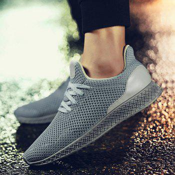 Mesh Lace Up Breathable Athletic Shoes - GRAY 41