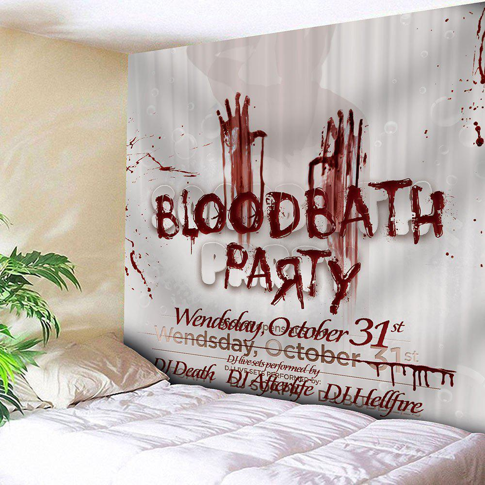 Waterproof Halloween Bloody Letter Handprint Tapestry - DARK RED W59 INCH * L59 INCH