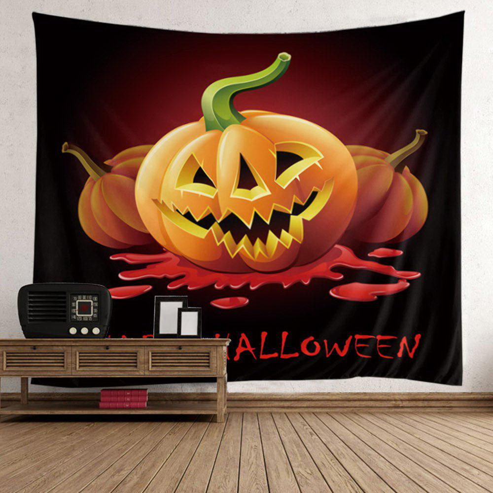 Halloween Pumpkin Bloody Letter Wall Decor Tapestry - WINE RED W59 INCH * L51 INCH