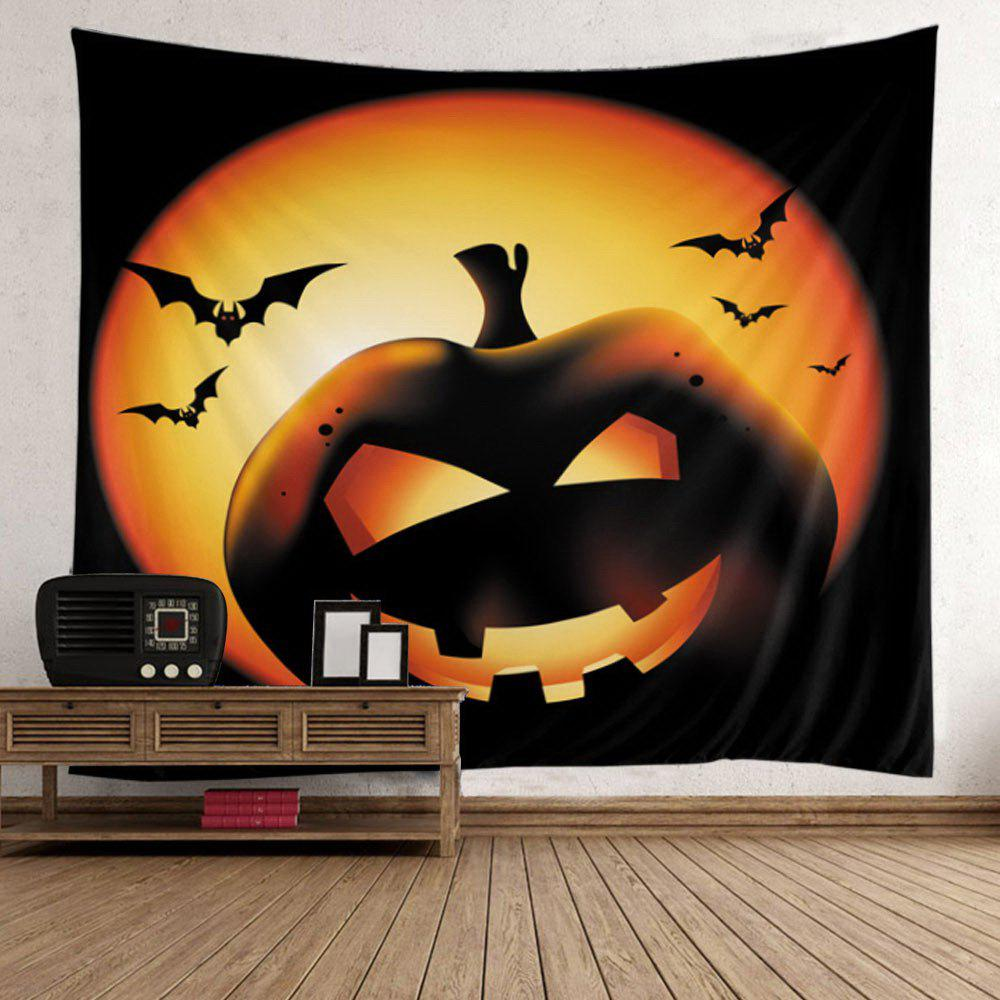 Halloween Pumpkin Batwing Wall Decoration Tapestry - COLORFUL W59 INCH * L51 INCH