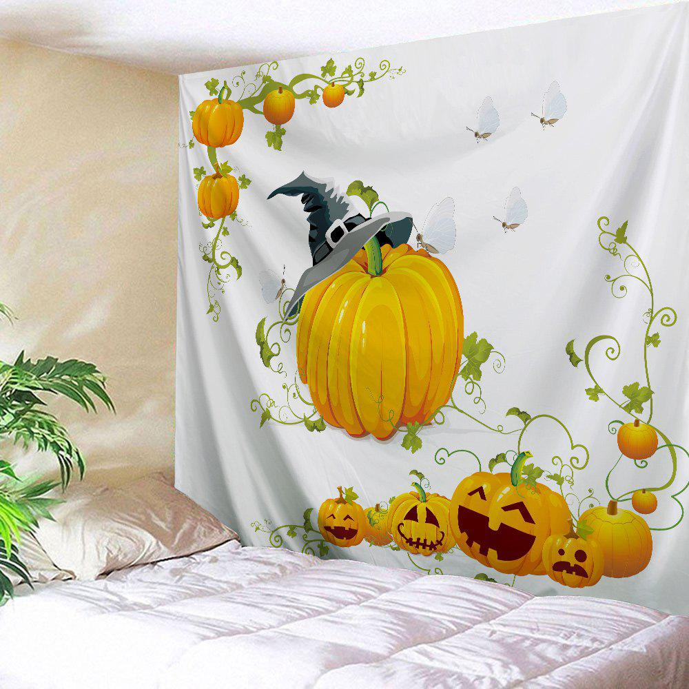 Halloween Decoration Wall Tapestry For Bedroom - WHITE W51 INCH * L59 INCH